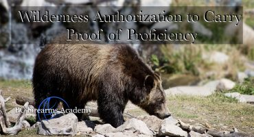 WATC Wilderness Authorization to Carry Proof of Proficiency Oct 26