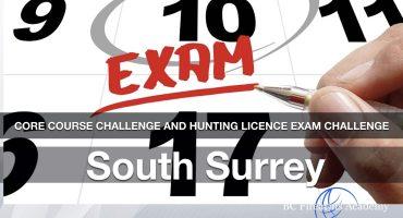 CORE Hunting License Exam Challenge: South Surrey Friday Nov 20